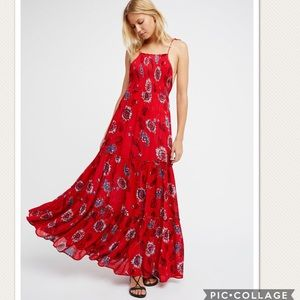 NWT Free People Garden Party Floral Slip Dress